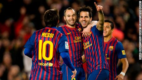 Cesc Fabregas played for Barcelona between 2011 and 2014.