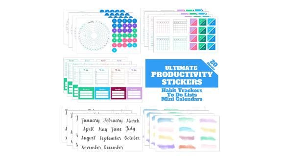 Ultimate Productivity Planner Stickers Set