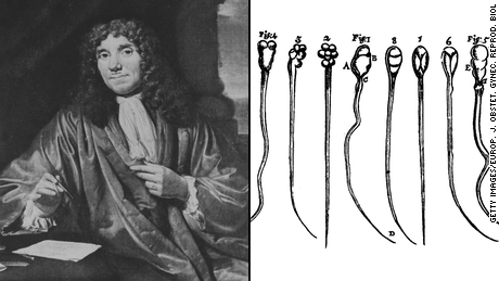 Antonie van Leeuwenhoek, who invented the compound microscope, was the first to peer at the movement of human sperm -- his own.