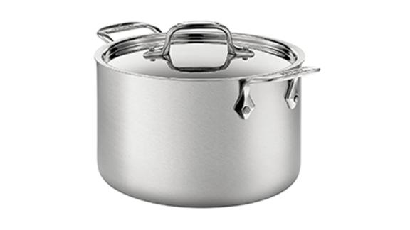 All-Clad 4-Quart Stainless Steel Dishwasher-Safe Soup Pot With Lid