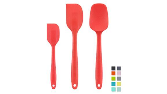 Cooptop Silicone Spatula Set - Rubber Spatula - Heat Resistant Baking Spoon & Spatulas