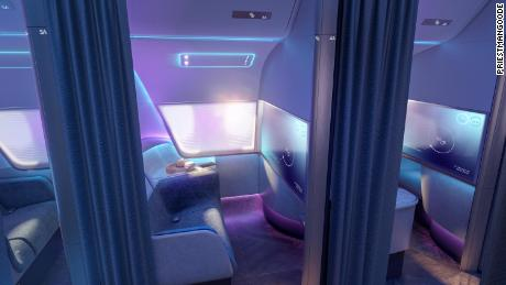 What the airplane cabin of the future might look like