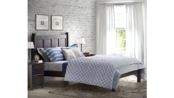 Bed Frames At Wayfair Cnn, Grain Wood Furniture Montauk Queen Solid Panel Bed Rustic Walnut