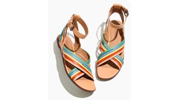 The Samira Flat Sandal in Leather