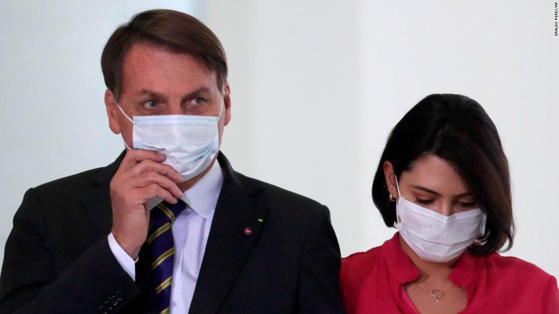 Brazil's Bolsonaro says he has 'mold' in his lungs as his wife tests positive for Covid-19 – CNN