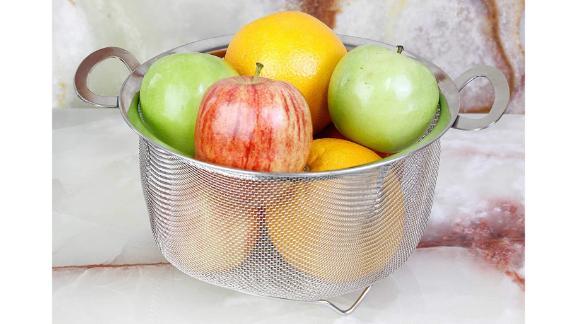 U.S. Kitchen Supply 3-Quart Stainless Steel Mesh Net Strainer Basket