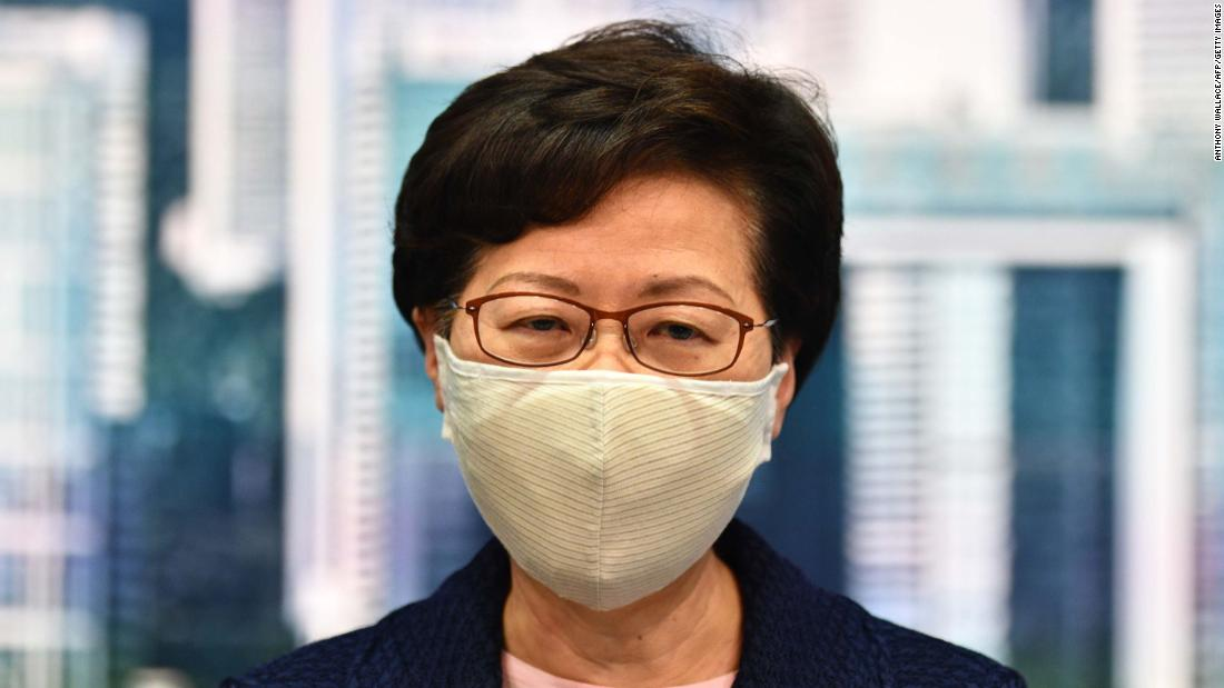 US sanctions Hong Kong chief executive Carrie Lam over democratic crackdowns