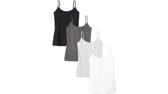 Amazon Essentials Slim Fit Camisole, 4-Pack
