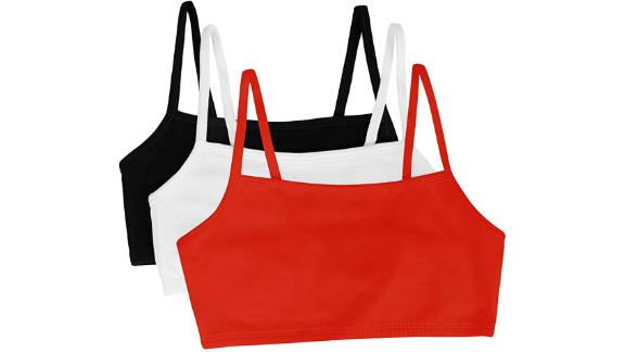 Fruit of the Loom Cotton Pullover Sport Bra, 3-Pack