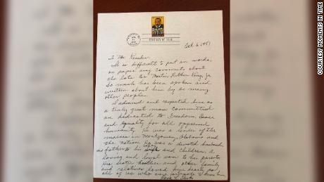 The letter that Rosa Parks wrote in remembrance of Rev. Martin Luther King Jr.