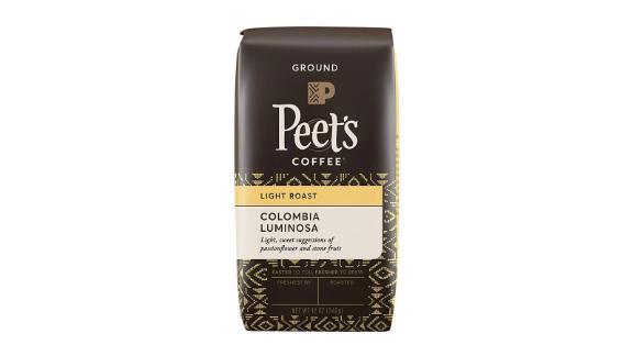 Peet's Coffee Colombia Luminosa Light Roast Ground Coffee, 12-Ounce