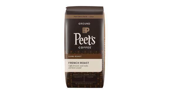 Peet's Coffee French Roast Dark Roast Ground Coffee, 20-Ounce