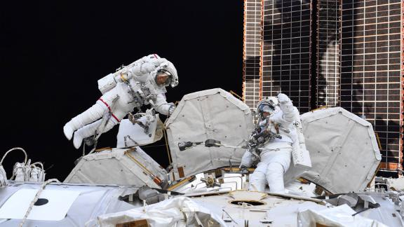 "On July 21, Hurley tweeted: ""Two of the best ever Spacewalkers, each on their 10th EVA today. Congratulations on an amazing accomplishment @Astro_SEAL and @AstroBehnken!"" Behnken was joined by NASA astronaut Chris Cassidy."