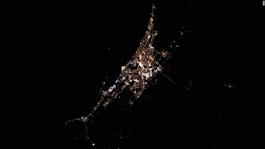 Perth, Australia, is pictured from the International Space Station as it orbited west of the city on July 23.