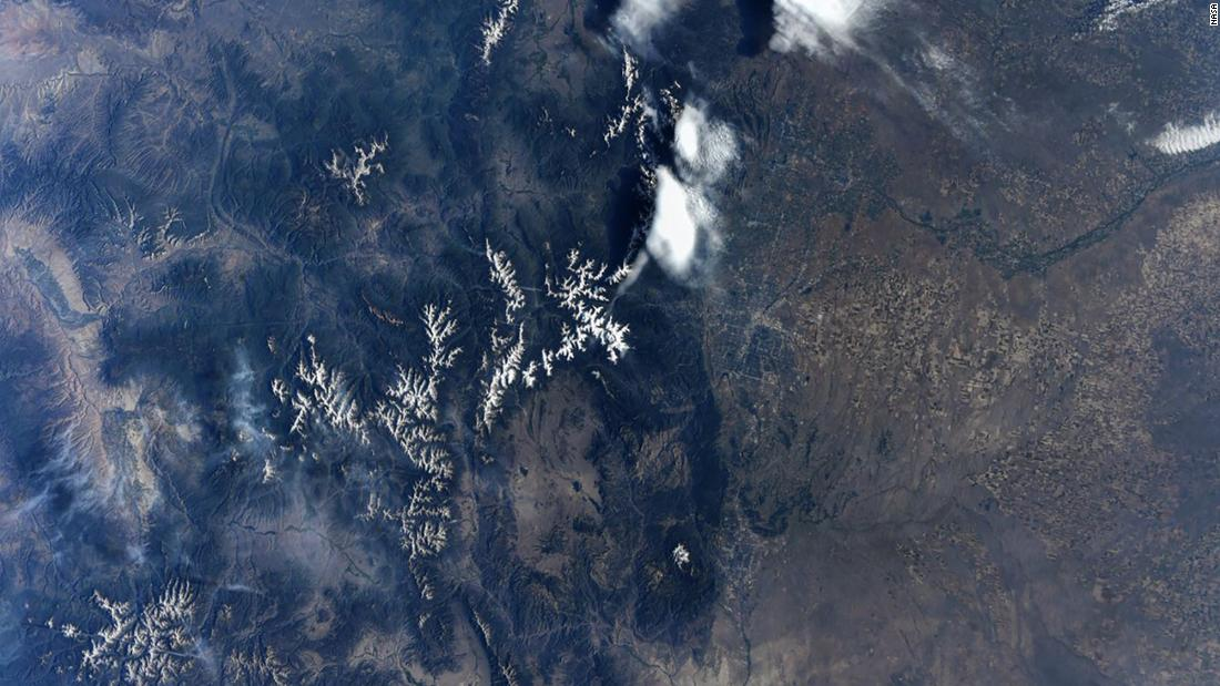 The Rocky Mountains and Denver as seen by Hurley on July 26.