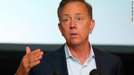 Connecticut Gov. Ned Lamont speaks at a news conference on July 22, 2020.