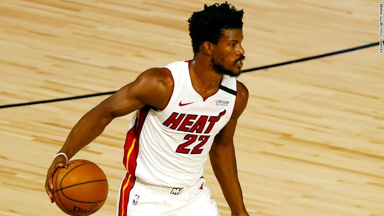 Jimmy Butler of the Miami Heat seen in August, 2020.