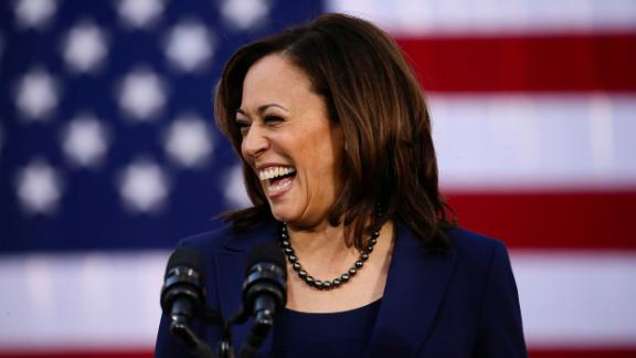 In this January 27, 2019, file photo, Sen. Kamala Harris launches her own campaign for president at a rally in her hometown of Oakland, California,