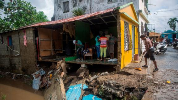 This home was destroyed by flooding from the Magua River in Hato Mayor, northwest of Santo Domingo, in the Dominican Republic.