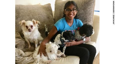 Meena Kumar espère que davantage de personnes adopteront des chiens plus âgés pendant la pandémie.