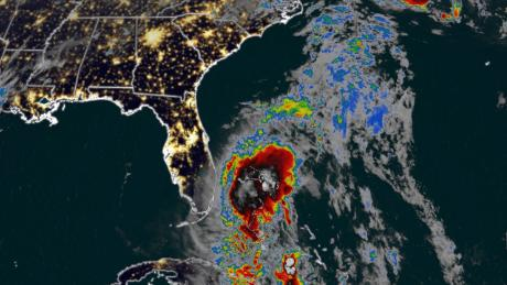 Florida feels first rain and winds of Tropical Storm Isaias