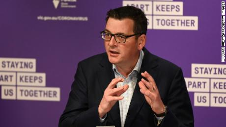 Victoria's state premier Daniel Andrews speaks during a press conference in Melbourne on August 2.