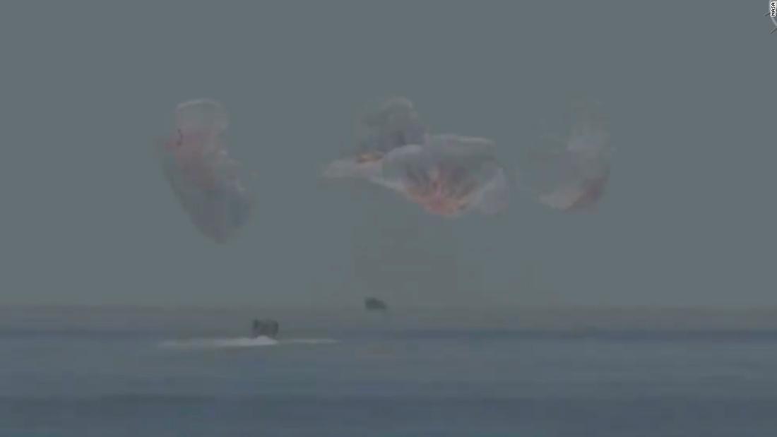 NASA-SpaceX mission: Astronauts splashdown after historic mission