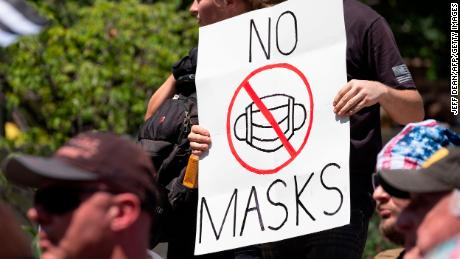 Anti-maskers: A group of people whining so much over something so little
