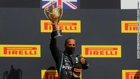 Lewis Hamilton survives 'heart-in-the-mouth' finish to win British Grand Prix