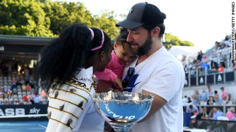 Williams and Ohanian with their daughter Alexis Olympia.