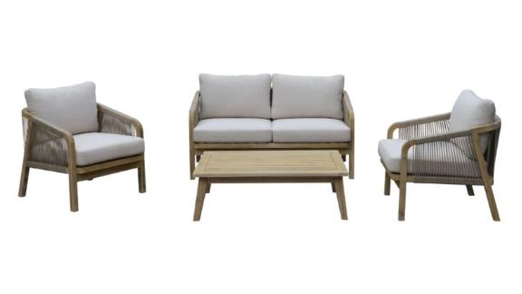 Thibault 4-Piece Sofa Seating Group With Cushions
