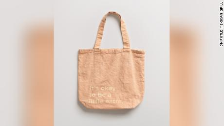 A tote bag dyed with avocado pits