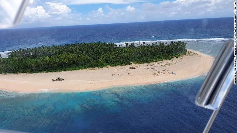 Three men from the Federated States of Micronesia on the beach of Pikelot Island were found after a combined US and Australian search.