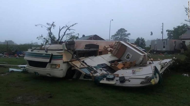 The fire department in Mardela Springs, Maryland, said there were reports of a possible tornado.
