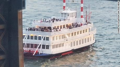 New York authorities intercepted the Liberty Belle on Saturday for a party that officials said was in violation of state and local emergency orders.