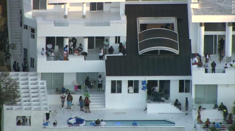 A mansion party on Los Angeles' famed Mulholland Drive on Monday turned deadly when someone opened fire.