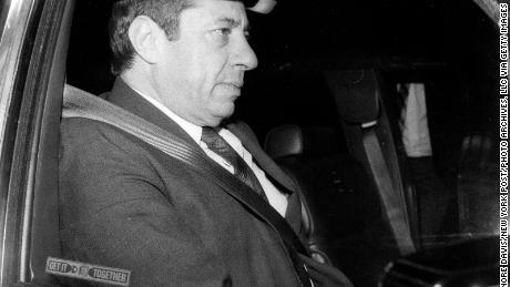 Then-New York Gov. Mario Cuomo wears a seat belt in 1985, a year after the state enforced seat belts.