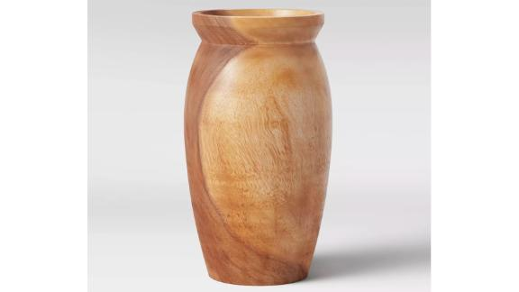 Threshold Round Tapered Munggur Wood Vase