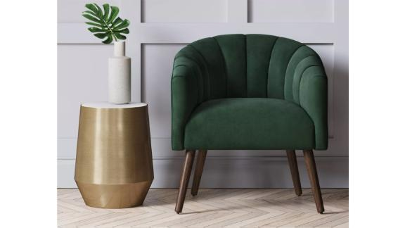 Project 62 Gwynne Modern Barrel Chair With Channel Seams