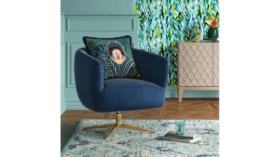 Opalhouse Morpho Swivel Velvet Armchair