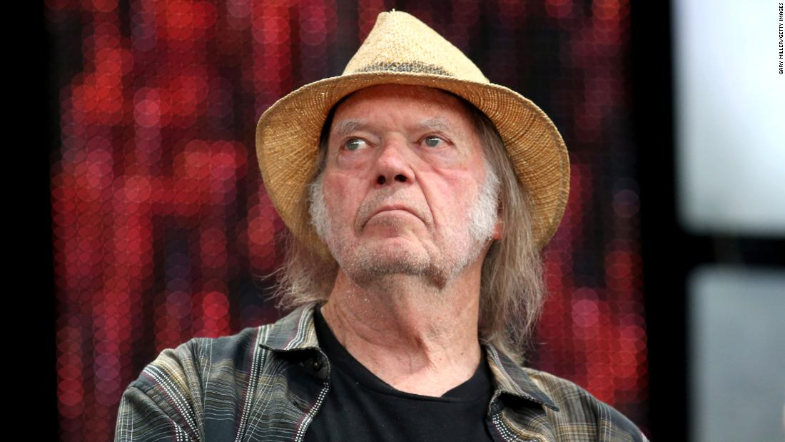 Neil Young sues Trump's reelection campaign