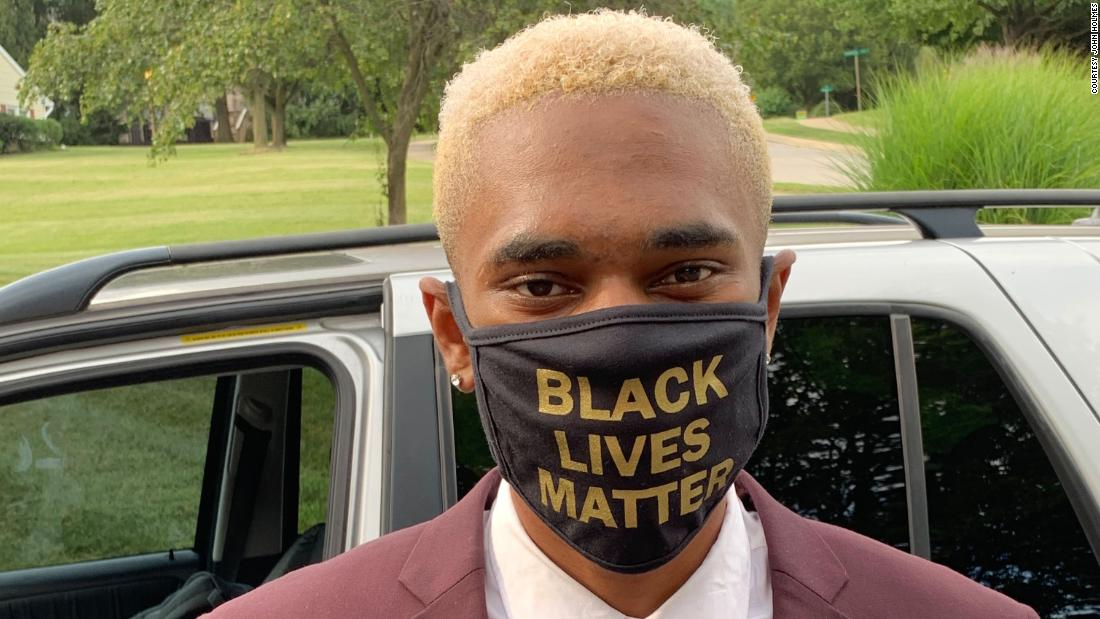 Student forced to take off Black Lives Matter mask at graduation ceremony, family says