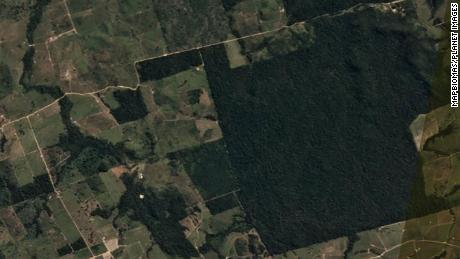 Satellite photo of Itaituba before deforestation in June 20, 2020