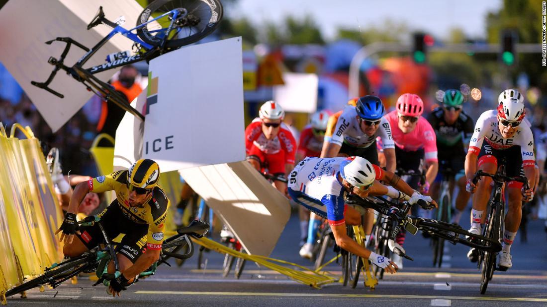 Fabio Jakobsen in a 'comatose condition' following horrific crash at Tour of Poland