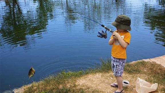 Plusinno Kids Fishing Pole Combo Set