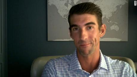 Olympic gold medalist Michael Phelps speaks with CNN during a coronavirus town hall on August 6.