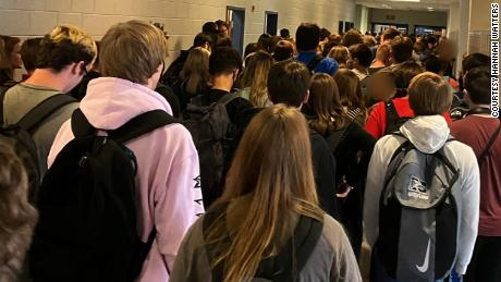 Hannah Watters said she was concerned about safety at North Paulding High School when she posted this photo on social media.