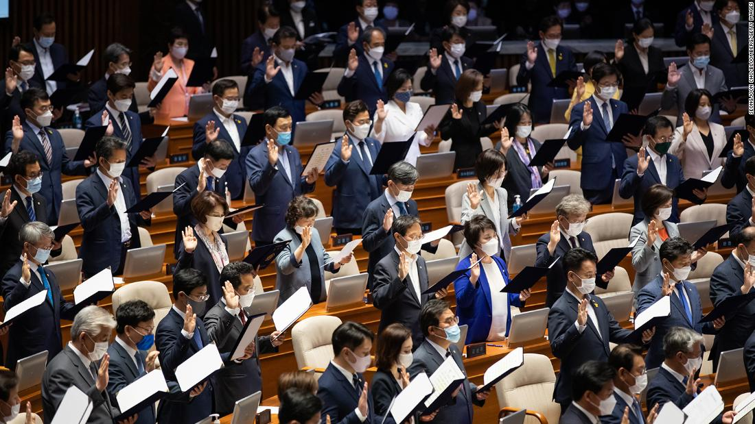 A South Korean lawmaker has come under fire for her outfit. Her offense? She wore a dress