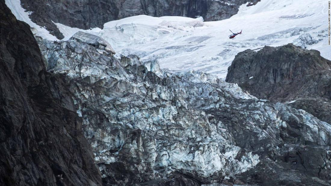 See large chunk of glacier at risk of falling
