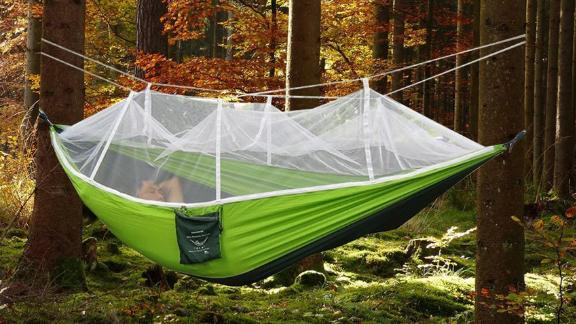 Rusee Double Camping Hammock With Mosquito Net